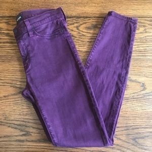 Hudson Jeans Purple Size 28 Skinny
